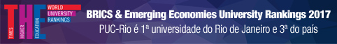 PUC-Rio é primeira universidade do Rio de Janeiro e terceira do país no Times Higher Education World University Rankings 2017 – Brics & Emerging Economies