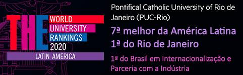 PUC-Rio está entre as TOP 10 na América Latina, segundo o Times Higher Education Latin American University Rankings 2020